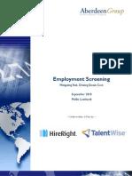 Background Employment Screening