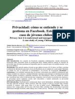 2016 T Moreno-Becerra, Gajardo-León y E Parra-Ortiz. Privacidad cómo se entiende y se gestiona en FB.pdf
