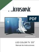 Televisor LED Smart 55 4K Mod. LED554KSM5518