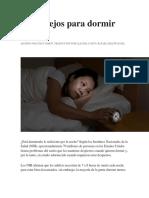 10 Consejos Para Dormir Más