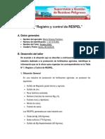 """Taller 4 """"Registro y Control de RESPEL"""""""