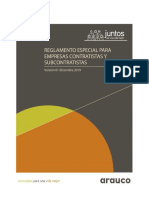 Reglamento Especial Empresas Contratistas y Subcontratistas Celulosa y Maderas