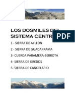 Los Dosmiles Del Sistema Central por El Fondillero.