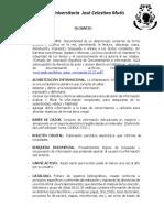 Glosario Jose Celestino