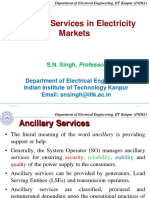 Prof. S. N. Singh - 4 - Ancillary Services in Electricity Market