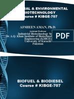 KIBGE Lecture # 13 (Biofuel & Biodiesel)