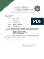 Request for Transfer PO2 Garcia