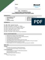 Curriculum Vitae SME