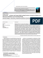 Assessment of Infant and Young Child Feeding Practices Among the Mothers in a Slum Area of Kolkata a Cross Sectional Study