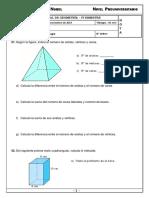Examen Mensual Geometria 5to Primaria