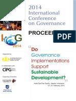 Proceeding International Conference on Governance 2014