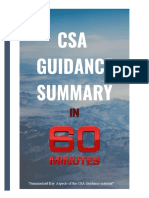 8 CSA Guidance in 60Minutes