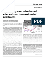 Fabricating Nanowire-based Solar Cell on Low Cost Metal Substrates
