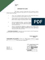 Affidavit of Loss -ROSE