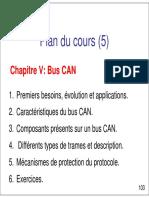 Plan Du Cours (5) Chapitre V_ Bus CAN
