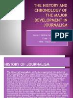 Development of Journalism