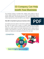 How a SEO Company Can Help in the Growth Your Business