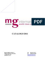 Catalogo 2011 MG International