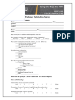 Construction Customer Satisfaction Form
