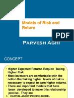 Risk and Return Models Shiv