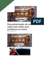 Descarbonização de Motor