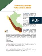Las 4 Regiones Naturales Del Perú