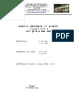 Grafic Sedinte Parinti 2014 -2015 7A