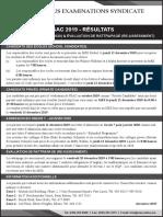 PSAC 2019 - RÉSULTATS ADMISSION EN GRADE 7 (2020) & ÉVALUATION DE RATTRAPAGE (RE-ASSESSMENT)
