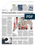 El Interminable Control Antidopaje