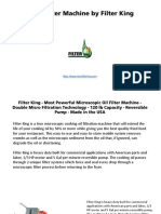 Filter King - Fryer Filter Machine