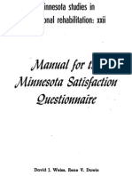 Manual de Satisfaccion de Minnesota