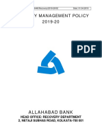 Allahabad Bank Recovery Management Policy