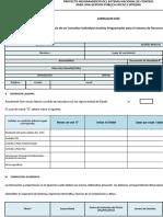 Formulario de CV Analista Programador RH