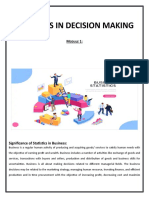 Study Pack Statistics in Decision Making