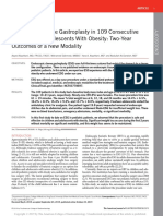 Endoscopic Sleeve Gastroplasty in 109 Consecutive Children and Adolescents With Obesity