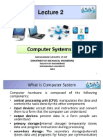 Lecture 2 Computer Systems
