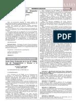 Decreto supremo N° 021-2019-JUS