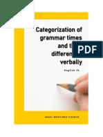Categorization of Grammar Times