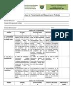 2. Rúbrica Para Evaluar La Presentación Del Esquema de Trabajo