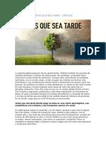 ANTES QUE SEA TARDE - CRITICAS.docx