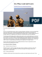 How Navy SEALs Plan Lead and Learn