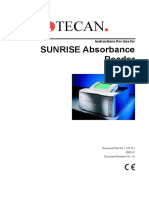 Tecan Sunrise Absorbance Reader Analyser - User Manual