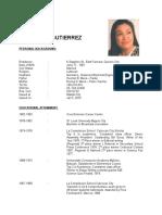 Resume of Masterchef contestant, Melissa Gutierrez