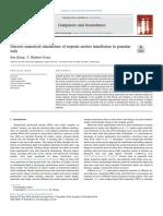 Discrete numerical simulations of torpedo anchor installation in granular soils