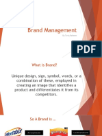 1 - Introduction to Brand Management
