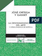 José Ortega y Gasset - La deshumanización del arte y otros ensayos de estética (2017, Espasa).pdf