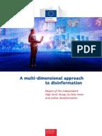 """Informe:""""Un enfoque multidisciplinar sobre la desinformación"""""""