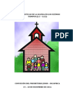 Características de las iglesias en los últimos tiempos