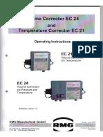 Manual Corrector de Volúmen EC24 y Corrector de Temperatura EC21