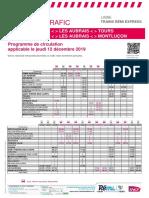 Info Trafic Axe q - Trains Remi Express Centre-Val de Loire Du 12-12-2019